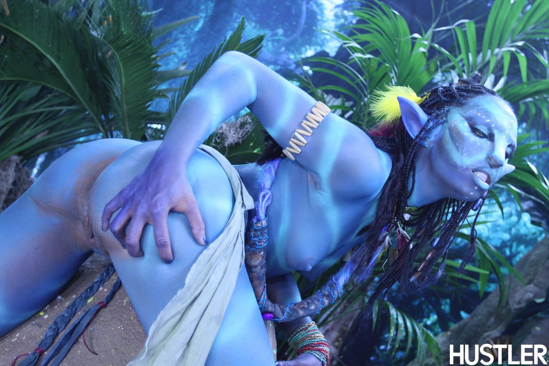 Blue alien girl nude pron clip