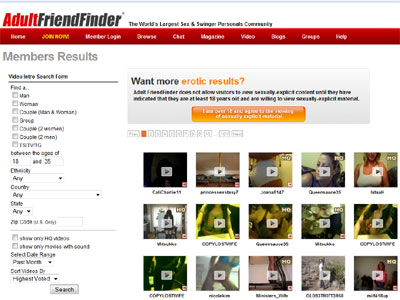 Adult Friend Finder is the original adult online dating site.
