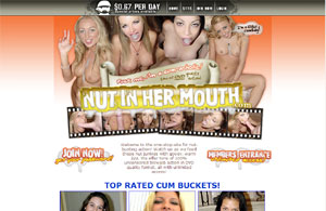 Nut In Her Mouth